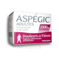 Aspegic Adultes 1000 Mg, Poudre Pour Solution Buvable En Sachet-dose 20 à FONTENAY-TRESIGNY