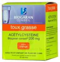 Acetylcysteine Biogaran Conseil 200 Mg Pdr Sol Buv En Sachet B/20 à FONTENAY-TRESIGNY