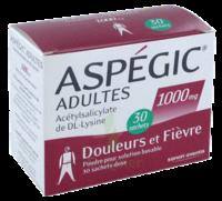 Aspegic Adultes 1000 Mg, Poudre Pour Solution Buvable En Sachet-dose 30 à FONTENAY-TRESIGNY