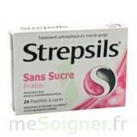 Strepsils Fraise Sans Sucre, Pastille édulcorée à L'isomalt, Au Maltitol Et à La Saccharine Sodique à FONTENAY-TRESIGNY