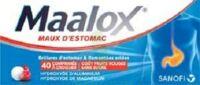 Maalox Maux D'estomac Hydroxyde D'aluminium/hydroxyde De Magnesium 400 Mg/400 Mg Sans Sucre Fruits Rouges, Comprimé à Croquer édulcoré à La Saccharine Sodique, Au Sorbitol Et Au Maltitol à FONTENAY-TRESIGNY
