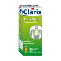 Clarix Toux Seche Pentoxyverine 0,15 % Enfants, Sirop à FONTENAY-TRESIGNY