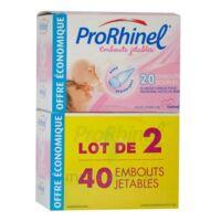 Prorhinel Lot De 2 X 20 Embouts Jetables Souples Pour Mouche Bébé à FONTENAY-TRESIGNY