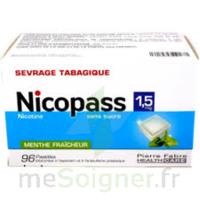 Nicopass 1,5 Mg Pastille Sans Sucre Menthe Fraîcheur Plq/96 à FONTENAY-TRESIGNY