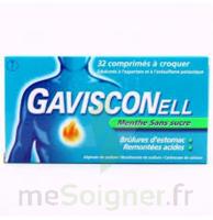 Gavisconell Coprimés à Croquer Sans Sucre Menthe édulcoré à L'aspartam Et à L'acésulfame Potas Plq/24 à FONTENAY-TRESIGNY