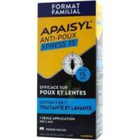 Apaisyl Anti-poux Xpress 15' Lotion Antipoux Et Lente 200ml+peigne à FONTENAY-TRESIGNY