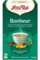 Yogi Tea Tisane Ayurvédique Bonheur Bio 17 Sachets/1,8g